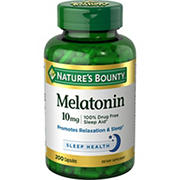 Nature's Bounty Melatonin 10 mg, 200 ct.