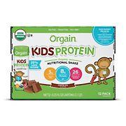 Orgain Kids Chocolate Protein Nutritional Shake, 12 ct.