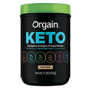 Orgain Chocolate Keto Collagen Protein Powder, 1.1 lbs.