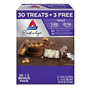 Atkins Endulge Chocolate Peanut Butter Cup and Chocolate Coconut Bar Variety Pack, 33 ct.