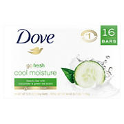 Dove Go Fresh Cool Moisture Beauty Bar, 16 ct.