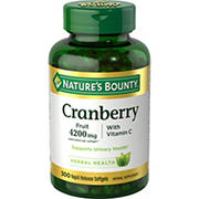 Nature's Bounty Cranberry Fruit 4200 mg, 300 ct.