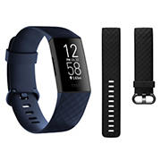 Fitbit Charge 4 Activity Tracker with Bonus Small and Large Black Bands - Storm Blue