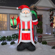 Gemmy Airblown Santa with Fuzzy Fabric Inflatable