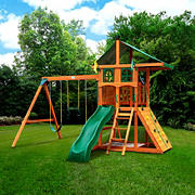 Gorilla Playsets Avalon Deluxe Swing Set with Vinyl Canopy