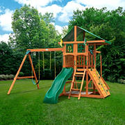 Gorilla Playsets Avalon Treehouse Swing Set with Monkey Bars