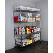 "SafeRacks 24"" x 60"" x 72"" 4-Tier Wire Shelving"