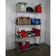 "SafeRacks 18"" x 48"" x 72"" 4-Tier Wire Shelving"