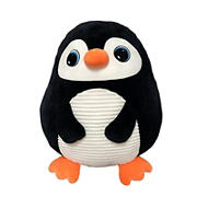 Hugfun Roly Poly Plush Animal  - Penguin
