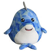 Hugfun Roly Poly Plush Animal  - Shark