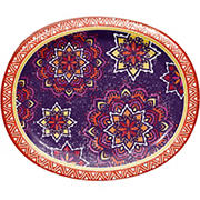 "Artstyle ""Magnificent Medallion"" Performa Oval Paper Plates, 35 ct."