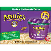 Annie's Homegrown White Cheddar Macaroni & Cheese Micro Cups, 12 ct.