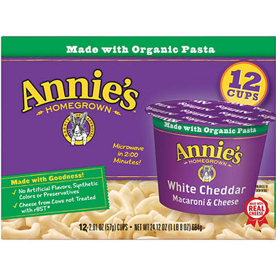 Annie's Homegrown Shells and White Cheddar, 6 oz., 12 pk.