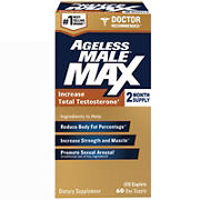Ageless Male Max Total Testosterone and Nitric Oxide Booster, 120 ct.