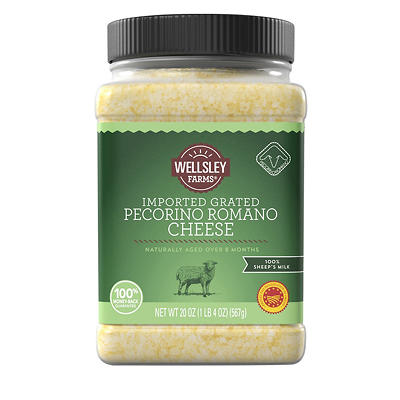 Wellsley Farms Grated Imported Pecorino Romano Cheese, 20 oz.