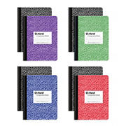"""Oxford Composition Book, 9.75"""" x 7.5"""" Wide Rule, 100 Sheets, 8 pk. - Assorted Marble"""