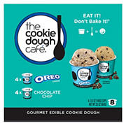 The Cookie Dough Cafe Combo Pack, Chocolate Chip and Oreo, 8 ct./3.5 oz.