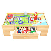 Jupiter Workshops 100-Pc. Wooden Train Table