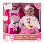 "Talking Baby Shandra 18"" Soft Cuddly Doll Fashion Playset - Ballerina"