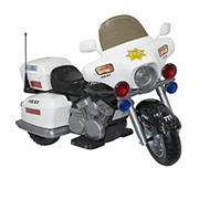 Kid Motorz Ride On Police Patrol Car - Black and White