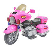 Kid Motorz Ride On Police Patrol Car - Pink