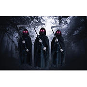 Berkley Jensen Set of 3 Grim Reapers with Lights & Sound