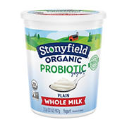 Stonyfield Organic Probiotic Whole Milk Yogurt, 32 oz