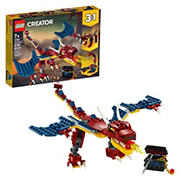 LEGO Creator Building Kit - 3-In-1 Fire Dragon 31102