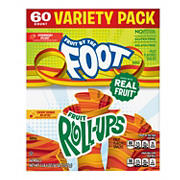 Fruit by the Foot and Fruit Roll-Ups Variety Pack, 60 ct.