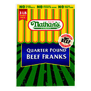 Nathans Quarter Pound Beef Franks, 3 lbs.