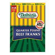 Nathans Quarter Pound Beef Franks, 3 lbs.