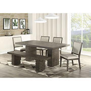 Steve Silver Lynn 6-Piece Dining Set - Gray Wash