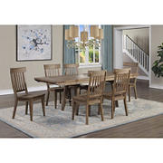 Steve Silver Newton 7-Piece Dining Set - Distressed Medium Oak