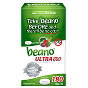 Beano Ultra 800 Gas Prevention Tablets, 180 ct.