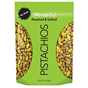 Wonderful No Shell Roasted and Salted Pistachios, 24 oz.