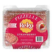 Reko Strawberry Authentic Italian Styled Waffle Cookie, 16 oz.