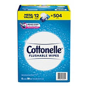 Cottonelle Fresh Care Flushable Wipes, 504 ct.