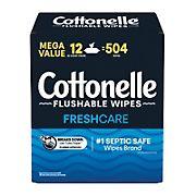 Cottonelle Fresh Care Flushable Wipes, 504 ct.