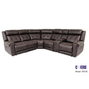 Cheers Clarkson 6-Pc. Power Reclining Sectional with Power Headrests