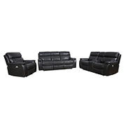 Cheers Easton Three Piece Power Reclining Sofa with Power Headrest Set