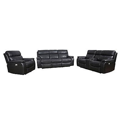 Cheers Easton Three Piece Power Reclining Sofa Set with Power Headrest Set