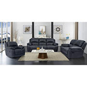 Cheers Burrow 3-Pc. Leather Power Reclining Sofa Set