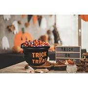 "Berkley Jensen 9"" Trick or Treat Candy Bowl Cauldron"