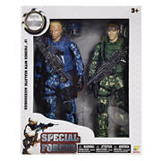 "Special Forces 12"" Figures, 2 pk. - Green/Blue"