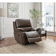 Northridge Home Top Grain Leather Manual Rocker Recliner