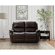 Northridge Home Top Grain Manual Reclining Loveseat
