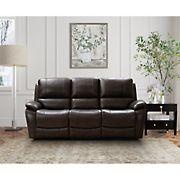 Northridge Home Top Grain Manual Reclining Sofa