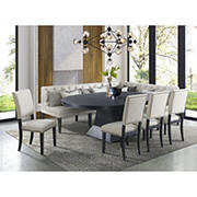 Picket House Furnishings Mara 8-Pc. Dining Set-Table with Four Chairs and Banquette