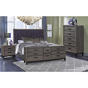 Laura 4-Pc. Bedroom Set - Beachwood Gray