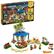 LEGO Creator 3-In-1 Fairground Carousel 31095 Building Kit, 595 Pc.